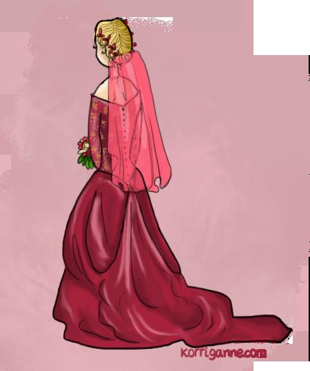 la mariée était en rouge