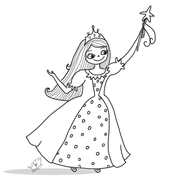 princesse petite fille coloriage