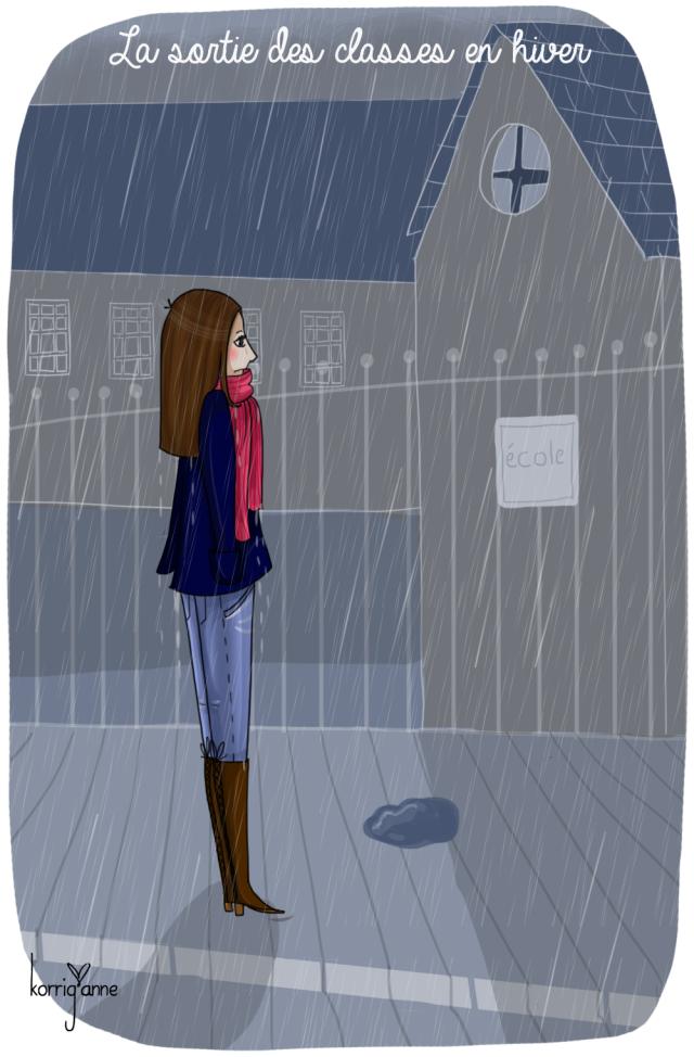 sortie d'école hiver