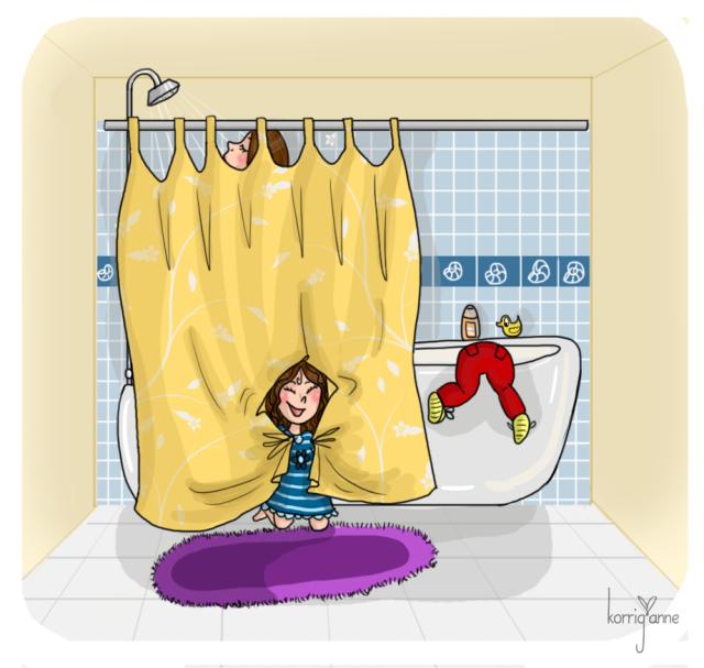 maman salle de bain