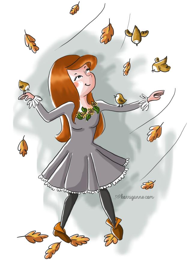 automne et oiseaux