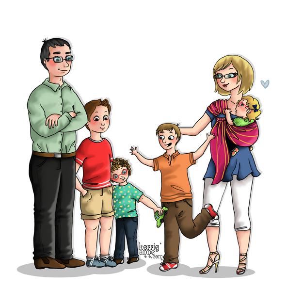 Portraits de famille korrig 39 anne page 2 for Les problemes de la famille nombreuse